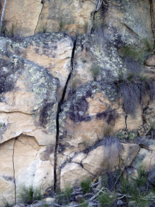Fordsdale Bouldering, this Natural Crack is over 2 metres from top to bottom