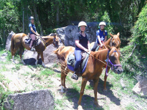 Fordsdale Horse Trail Riding, Children out on a birthday horse trail ride