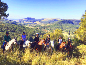 Fordsdale Horse Trail Riding, Enjoying the view of the Lockyer Valley, Queensland, Australia